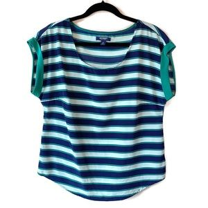 Old Navy Speed Stripe Short Sleeve Blouse M